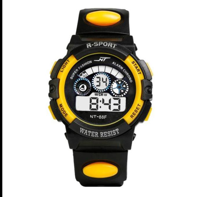 防水メンズ腕時計 デジタルled表示アラーム日付スポーツシリコーン腕時計 男性スポーツ腕時計_画像9