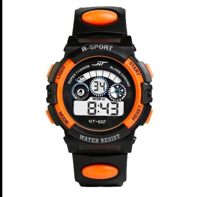 防水メンズ腕時計 デジタルled表示アラーム日付スポーツシリコーン腕時計 男性スポーツ腕時計_画像6
