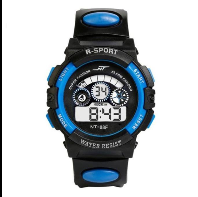 防水メンズ腕時計 デジタルled表示アラーム日付スポーツシリコーン腕時計 男性スポーツ腕時計_画像5