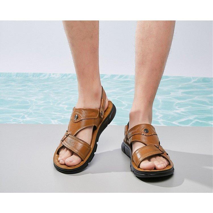 本革メンズシューズ 紳士靴 サンダル ダンディ靴 ぺたんこ 本革サンダル 歩きやすい メンズ 通気性 ビジネスシューズ メンズ サンダル