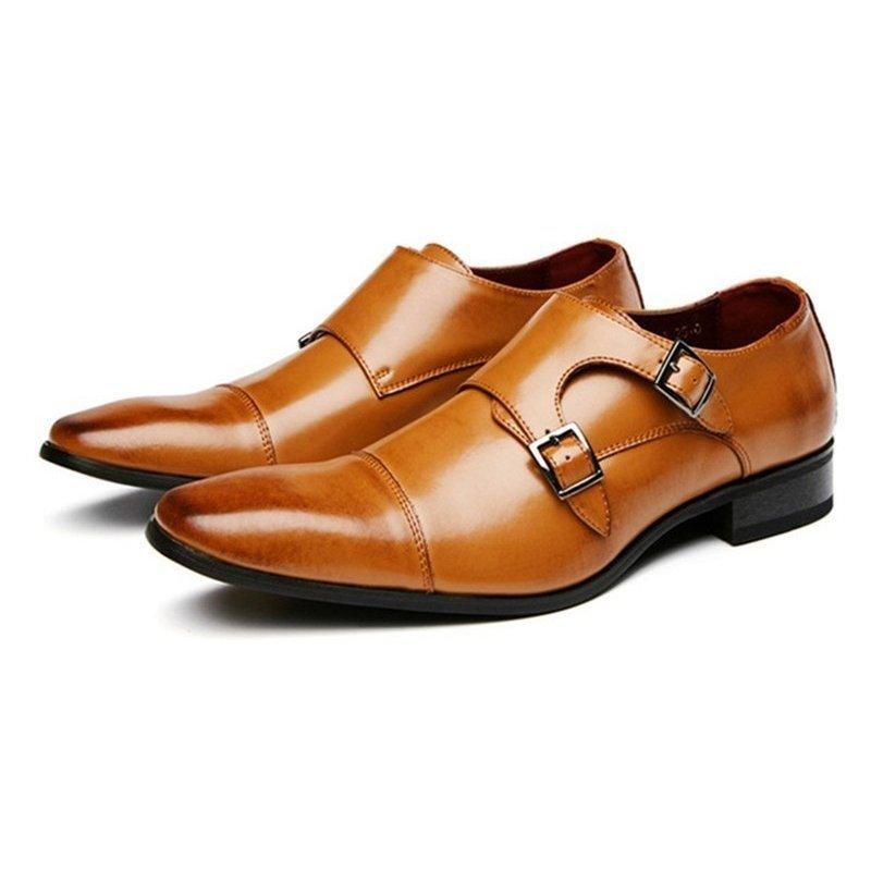 ビジネスシューズ メンズシューズ 革靴 本革 モンクストラップ 【靴べら1本おまけ~】モンクストラップ ビジネスシューズ 本革 メンズ ダ
