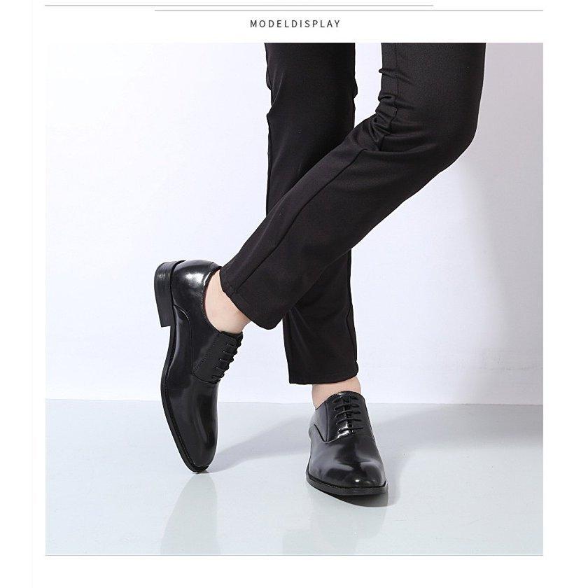 ビジネスシューズ メンズシューズ PU 合皮 プレーントゥ 【靴べら1本おまけ~】ストレートチップ ビジネスシューズ 本革 メンズ 革靴 メ