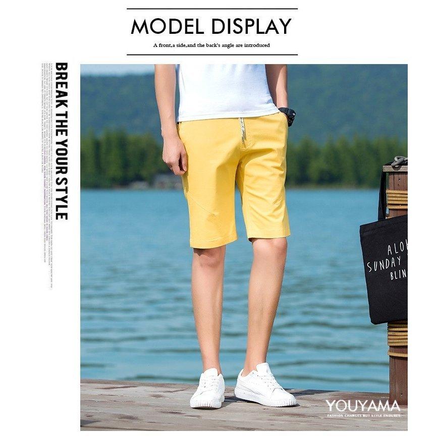 ショートパンツ メンズ ハーフパンツ イージーパンツ パンツ ショートパンツ メンズ ハーフパンツ イージーパンツ 無地 スウェットパン