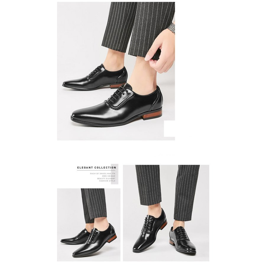 メンズビジネスシューズ 靴 紳士靴革靴 ビジネス靴 男性 黒 ビジネスシューズ 紳士靴 キングサイズ 防滑ソール ストレートチップ 外羽根