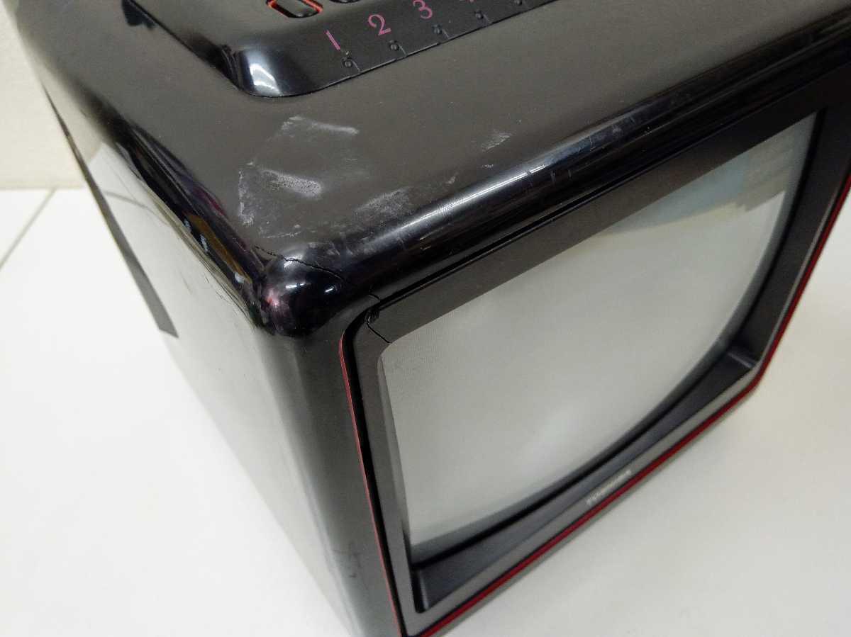 東芝 TOSHIBA 10W-U30 10型 ブラウン管テレビ 昭和レトロ ジャンク_画像7