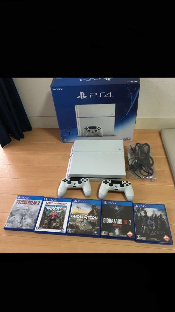 美品 プレイステーション4  PS4本体ソフト5つコントローラー2つセット