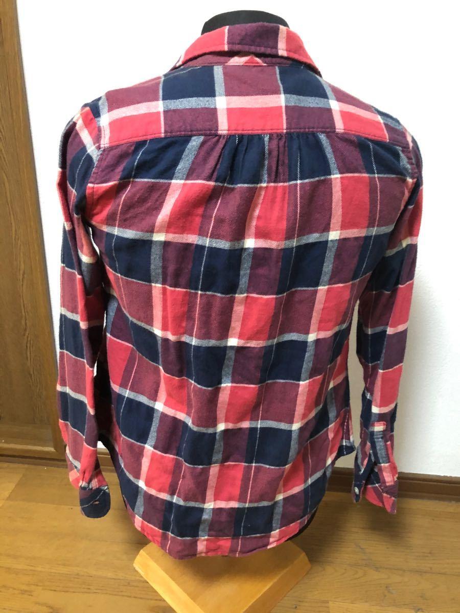チェック柄 長袖シャツ 美品