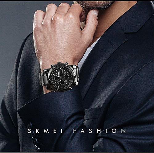 HINICE ホワイト/ホワイト メンズ腕時計 デジアナ腕時計クロノグラフ ビジネス用 カジュアル アラム機能 カレンダー 曜日_画像5