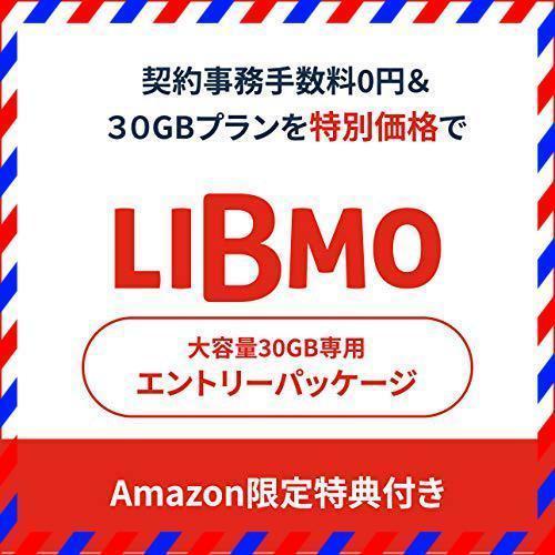 【限定/事務手数料3000が不要】LIBMO 大容量30GB専用エントリーパッケージ データ専用/SMS/音声通話 ドコモ回線[i_画像1
