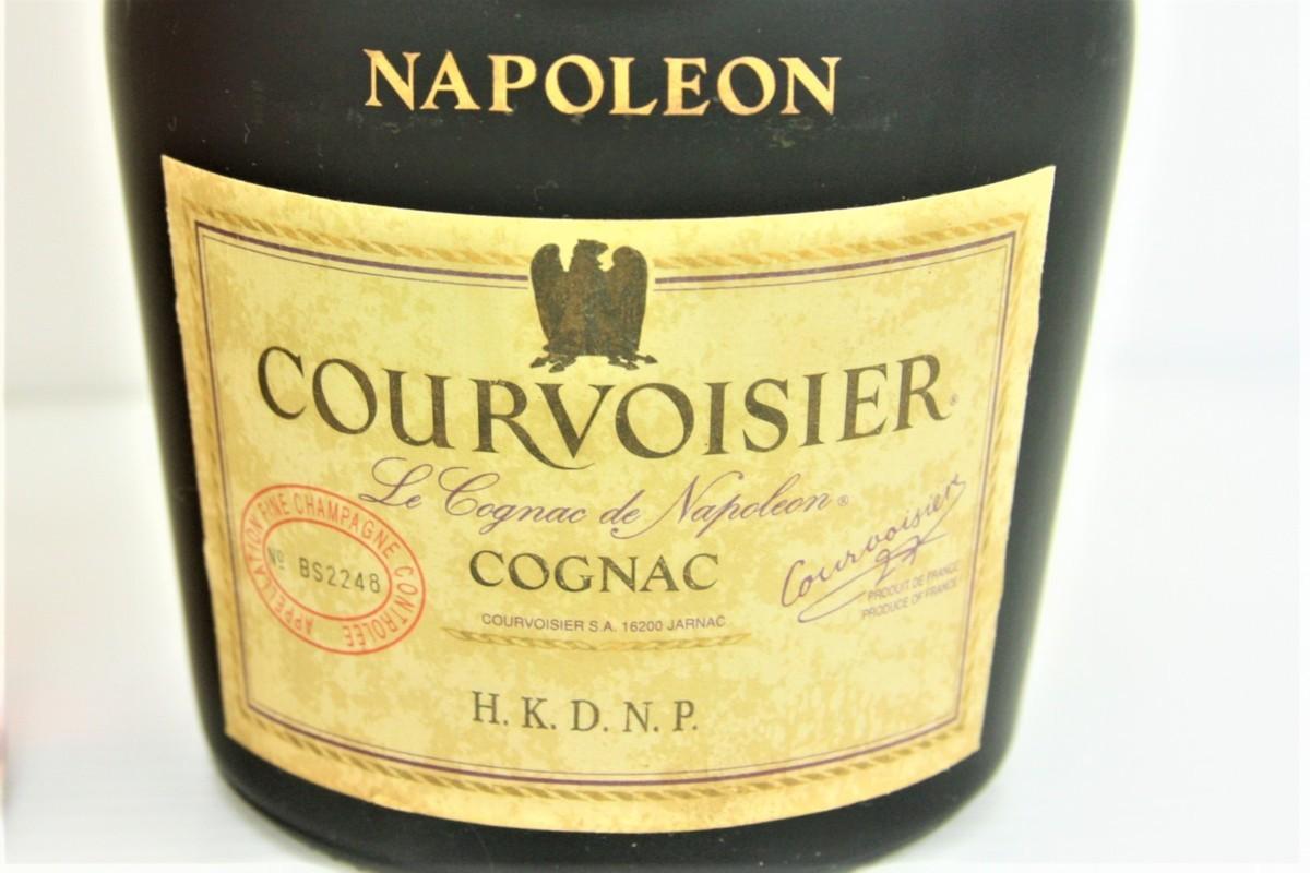 639【古酒】3 福袋 COURVOISIER NAPOLEON VSOP EXCLUSIF 2本セット クルボアジェ ナポレオン COGNAC グリーンボトル 700ml 未開栓 1円から_画像3