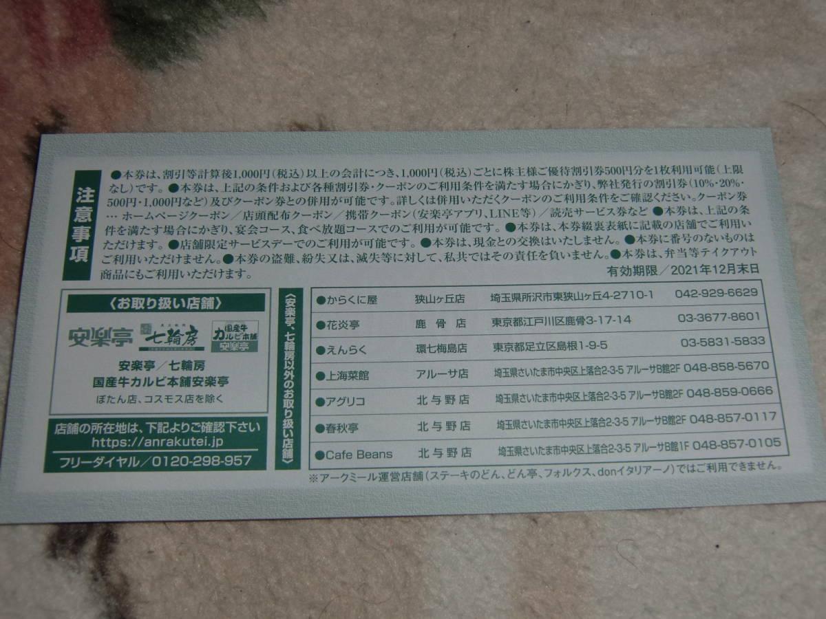 ★ 焼肉安楽亭 優待割引券3500円_画像2
