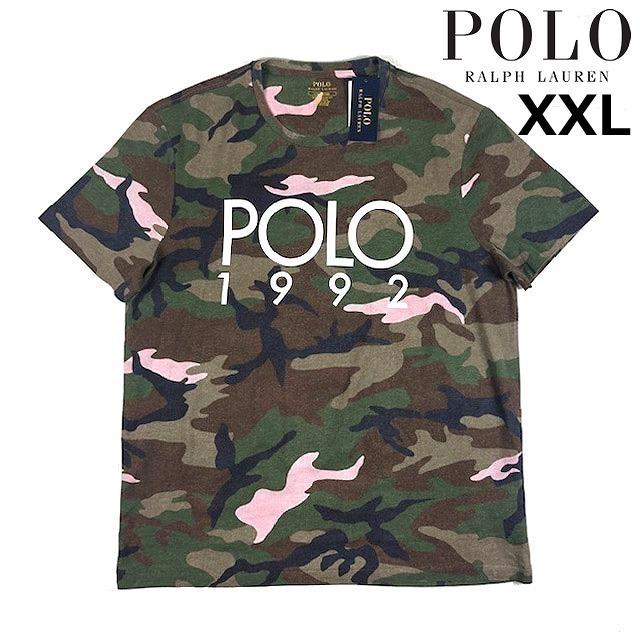1円~!売切!【正規新品】POLO RALPH LAUREN Camouflage Print 復刻 1992 コットン 高品質 希少 カモフラ 半袖Tシャツ(XXL)迷彩 190131-50