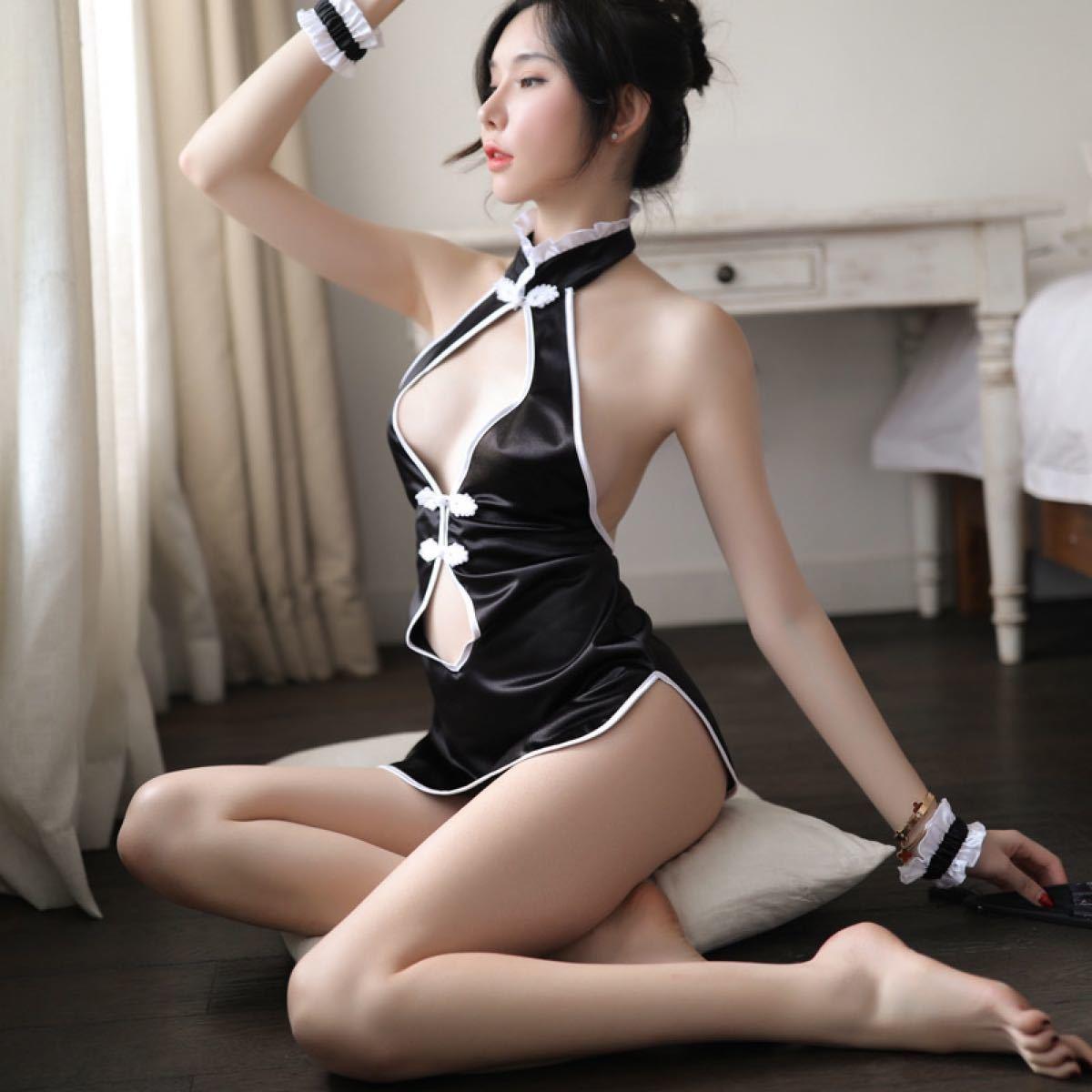 可愛い セクシー コスプレ 送料無料  ベビードール セクシーランジェリー コスプレ衣装 胸元 花柄