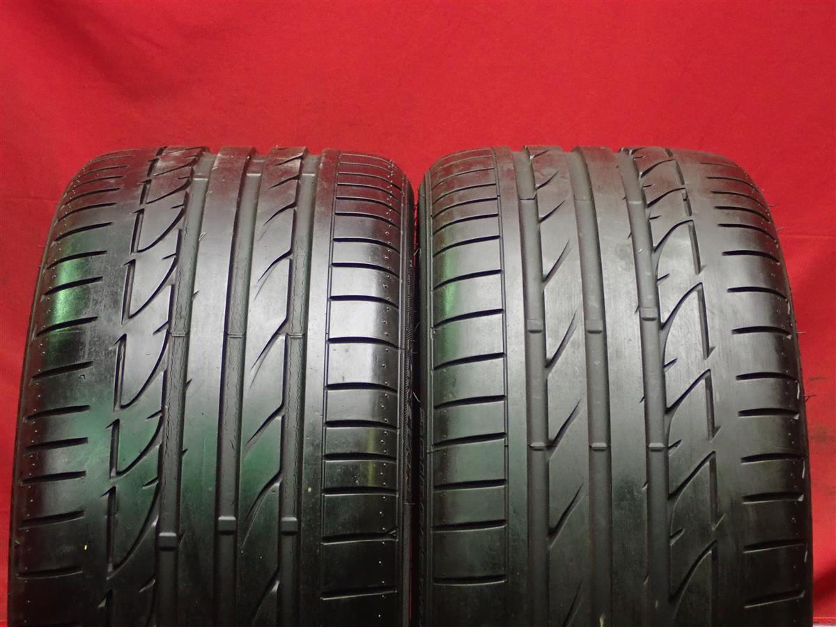 2本 《 ブリヂストン 》 ポテンザS001 [ 255/35R19 ]9分山★ BMW3シリーズ ランフラットタイヤ n18_画像1
