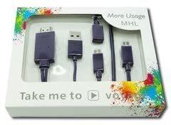 新品即納 Micro USB HDMI 変換 アダプター MHL変換ケーブル MHL機種専用 スマホ テレビ 接続 205M_画像9