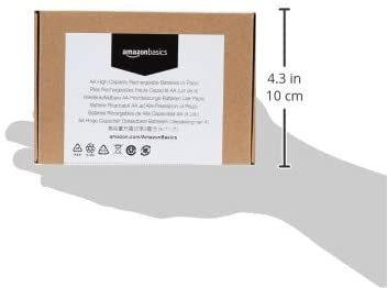 高容量単3形4個パック Amazonベーシック 充電池 高容量充電式ニッケル水素電池単3形4個セット (充電済み、最小容量 24_画像6