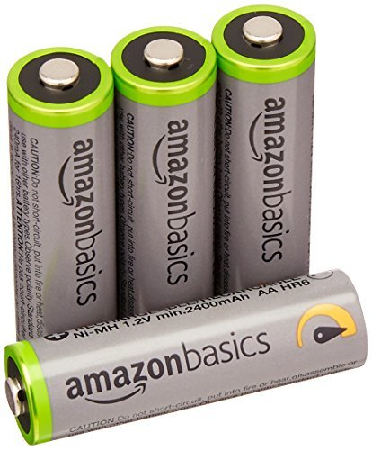 高容量単3形4個パック Amazonベーシック 充電池 高容量充電式ニッケル水素電池単3形4個セット (充電済み、最小容量 24_画像1