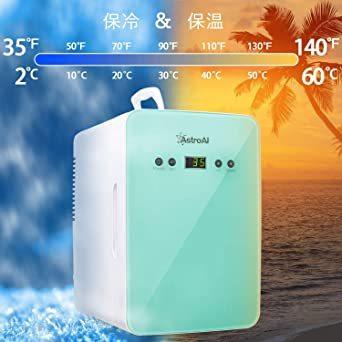 グリーン グリーン AstroAI 冷蔵庫 小型 ミニ冷蔵庫 小型冷蔵庫 冷温庫 6L 化粧品 小型でポータブル 家庭 車載両用_画像4