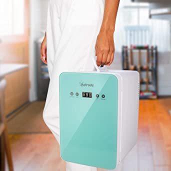 グリーン グリーン AstroAI 冷蔵庫 小型 ミニ冷蔵庫 小型冷蔵庫 冷温庫 6L 化粧品 小型でポータブル 家庭 車載両用_画像7
