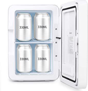 グリーン グリーン AstroAI 冷蔵庫 小型 ミニ冷蔵庫 小型冷蔵庫 冷温庫 6L 化粧品 小型でポータブル 家庭 車載両用_画像9