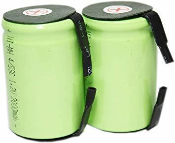 4/5 正規容量 国内から発送 ニッケル水素 4/5 SC タブ付 充電池 バッテリー 2000mah (2)_画像1