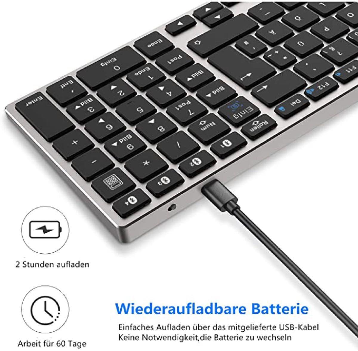 Bluetooth キーボード 日本語配列 ワイヤレスキーボード 静音