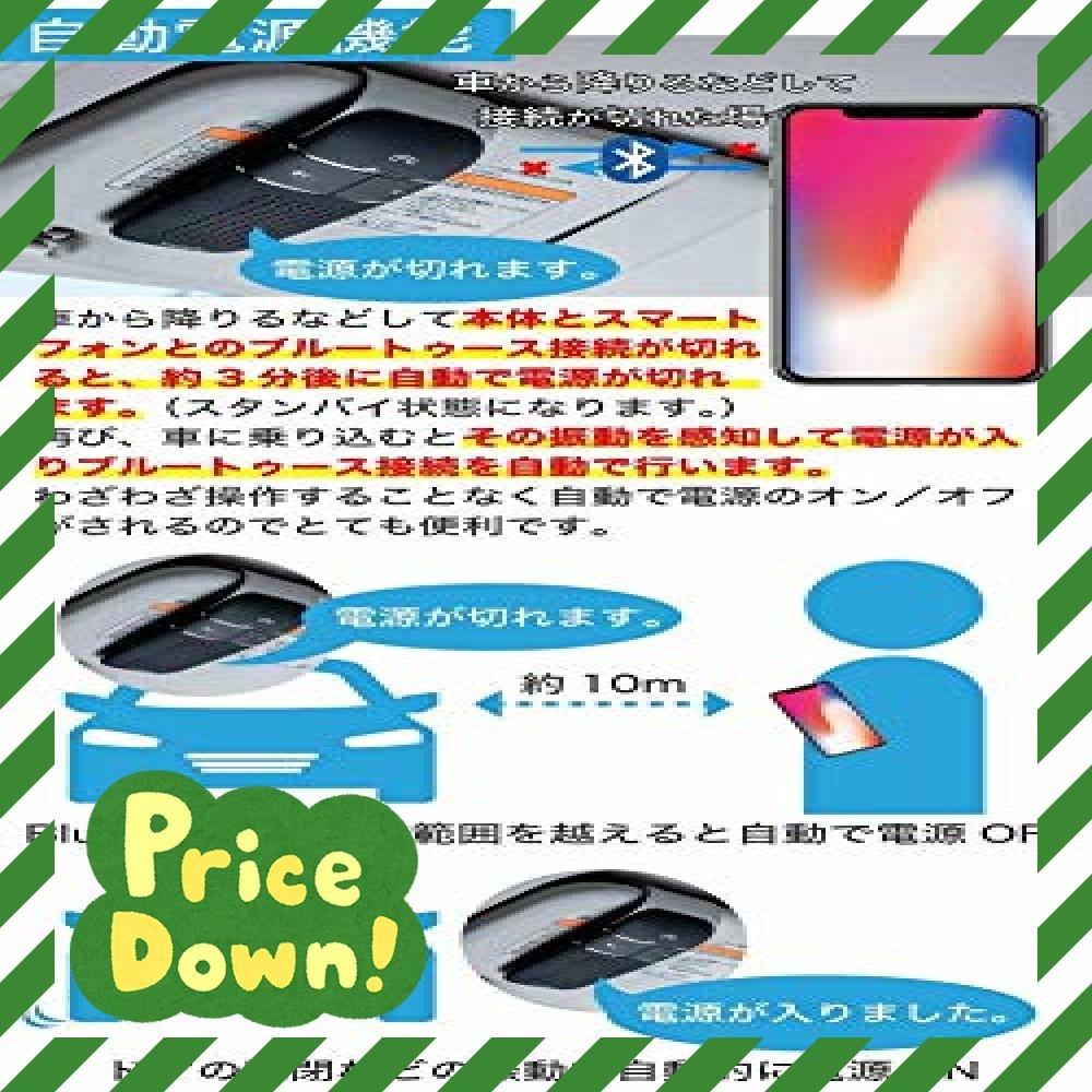 黒 車載 ワイヤレススピーカー【TAXION】 業務用対応 プロ仕様 Bluetooth 4.1 日本語アナウンス エアコン吹き_画像4