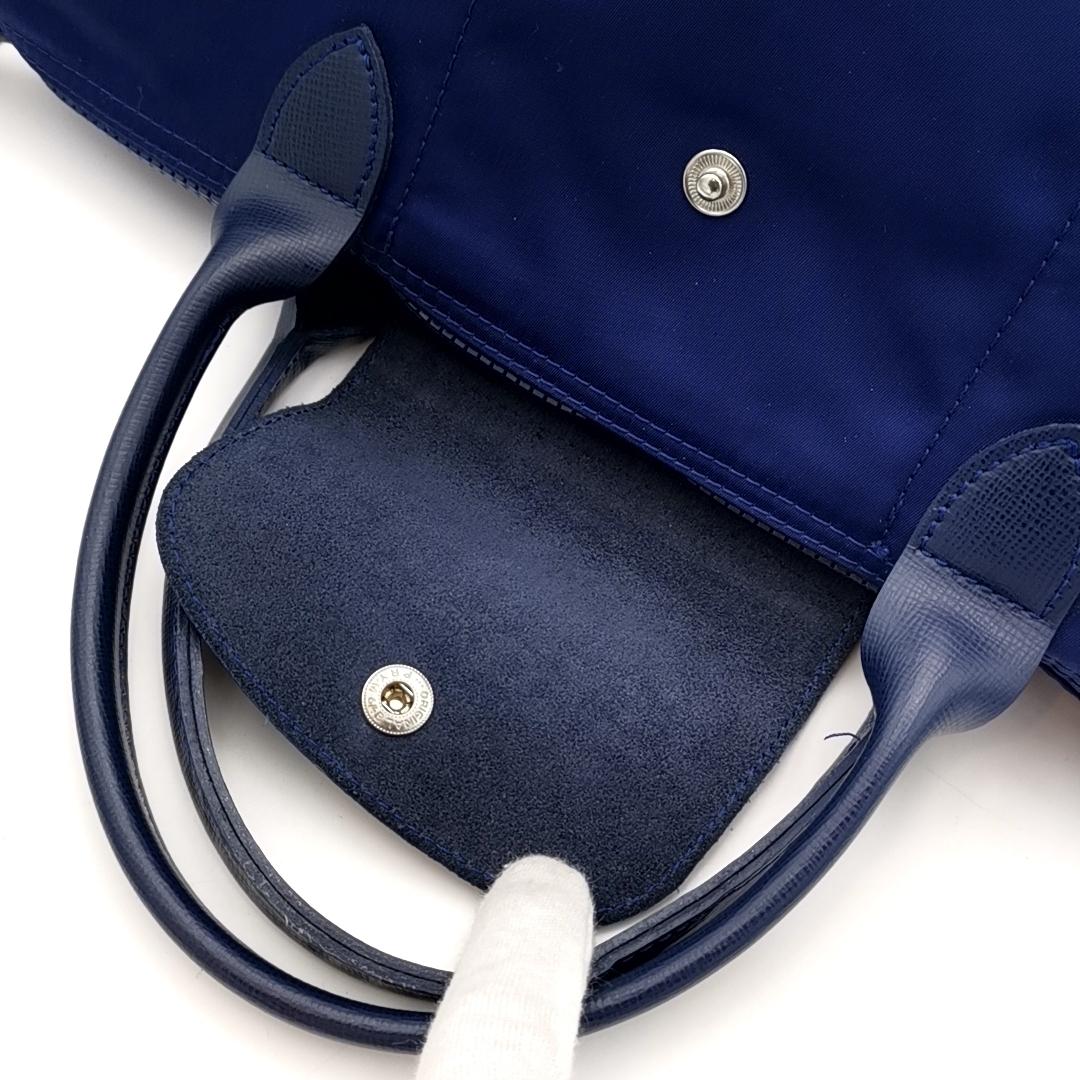送料無料 超美品 ロンシャン LONGCHAMP ハンドバッグ トートバッグ ショルダーバッグ 鞄 2WAY ル プリアージュ ナイロン 紺系 レディース_画像7