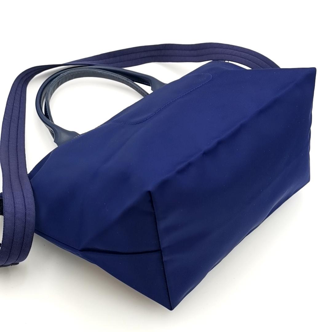送料無料 超美品 ロンシャン LONGCHAMP ハンドバッグ トートバッグ ショルダーバッグ 鞄 2WAY ル プリアージュ ナイロン 紺系 レディース_画像5
