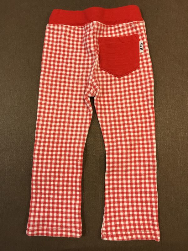 ★★ストレッチパンツ 長ズボン 赤チェック サイズ95 女の子 入園準備★★_画像3