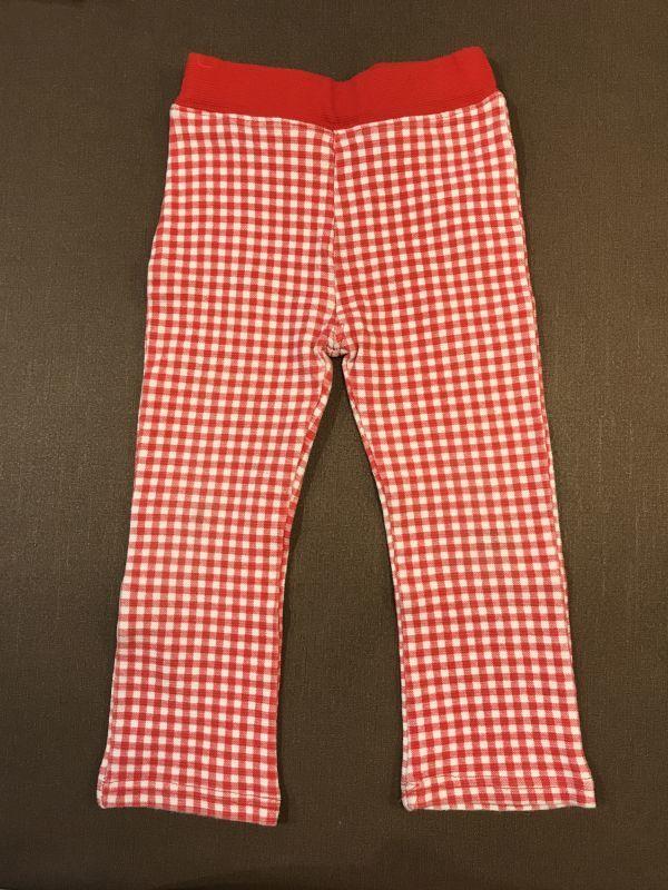 ★★ストレッチパンツ 長ズボン 赤チェック サイズ95 女の子 入園準備★★_画像1