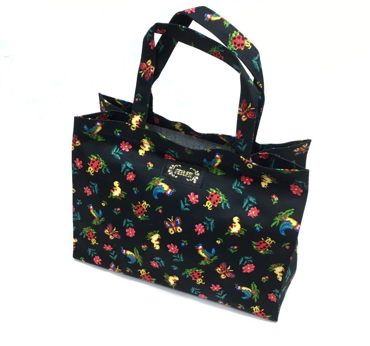 □ 未使用品【フェイラー】トートバッグ+ブック・布製・花柄・ランチバッグ・エコバッグ_画像2