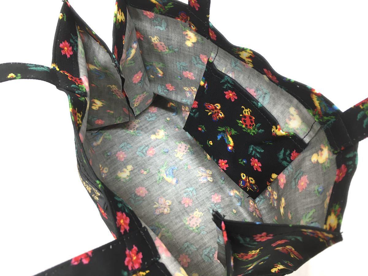 □ 未使用品【フェイラー】トートバッグ+ブック・布製・花柄・ランチバッグ・エコバッグ_画像5