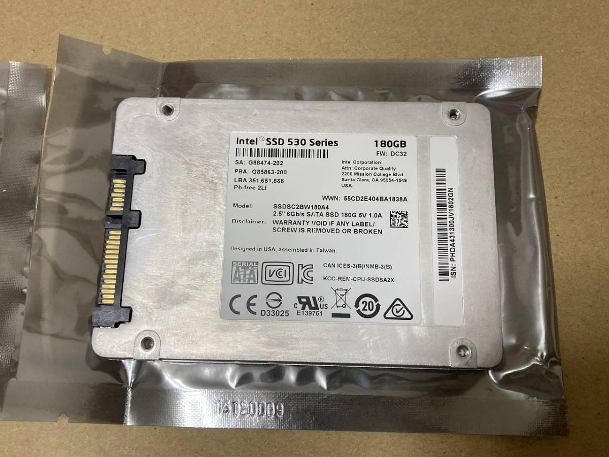 送料込 新品同様 Intel SSD 530 180GB MLCチップ SATA 2.5inch インテル自社製NAND