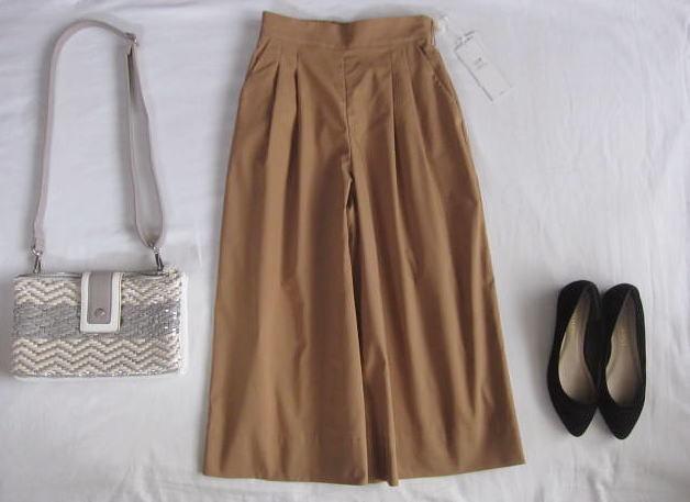 ◆23区 新品 小さい ワイドパンツ ガウチョパンツ スカーチョ_画像1