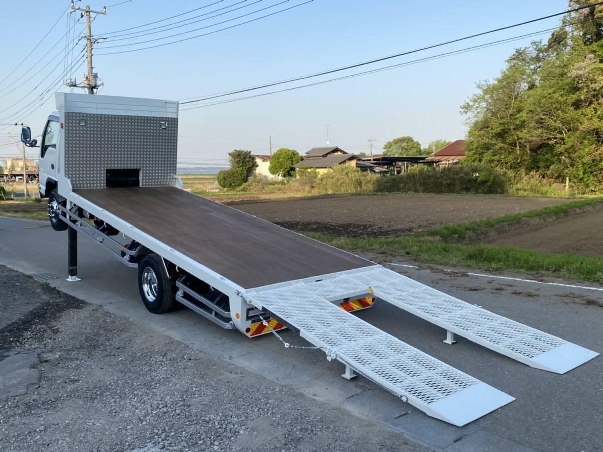 「【F-0008】いすゞ エルフ PA-NPR81N 高床 セルフローダー 最大積載量3250kg  全塗装済み 車検付 茨城県」の画像3