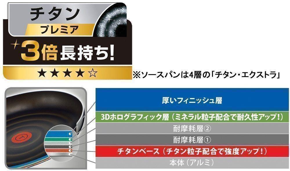 新品 T-fal グランブルー・プレミア フライパン 28cm インジニオ・ネオ ティファール