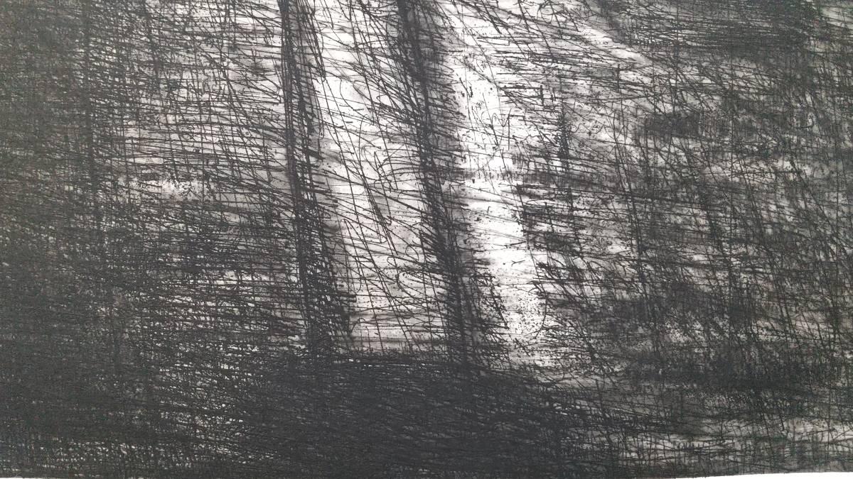 赤塚祐二 『 tree 』 銅版画 直筆サイン入り  1995年制作  限定15部  額装  【真作保証】 さし箱付き_画像7