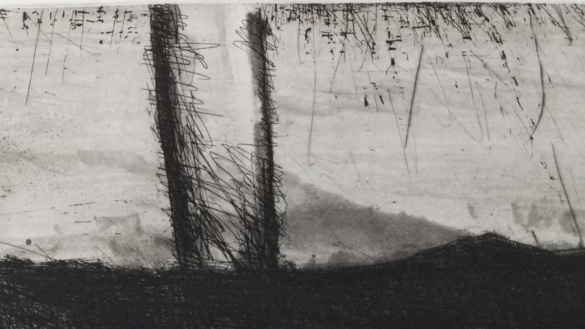 赤塚祐二 『 tree 』 銅版画 直筆サイン入り  1995年制作  限定15部  額装  【真作保証】 さし箱付き_画像5