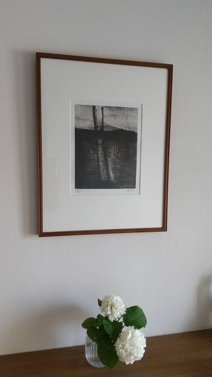 赤塚祐二 『 tree 』 銅版画 直筆サイン入り  1995年制作  限定15部  額装  【真作保証】 さし箱付き_画像10