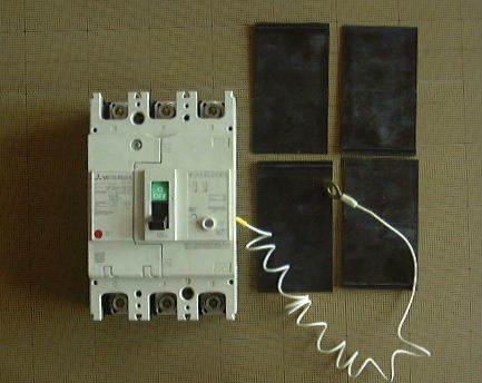サーキットブレーカ(125A 過電流遮断器) 三菱電機 NF250-NCV_本体及び相間バリア