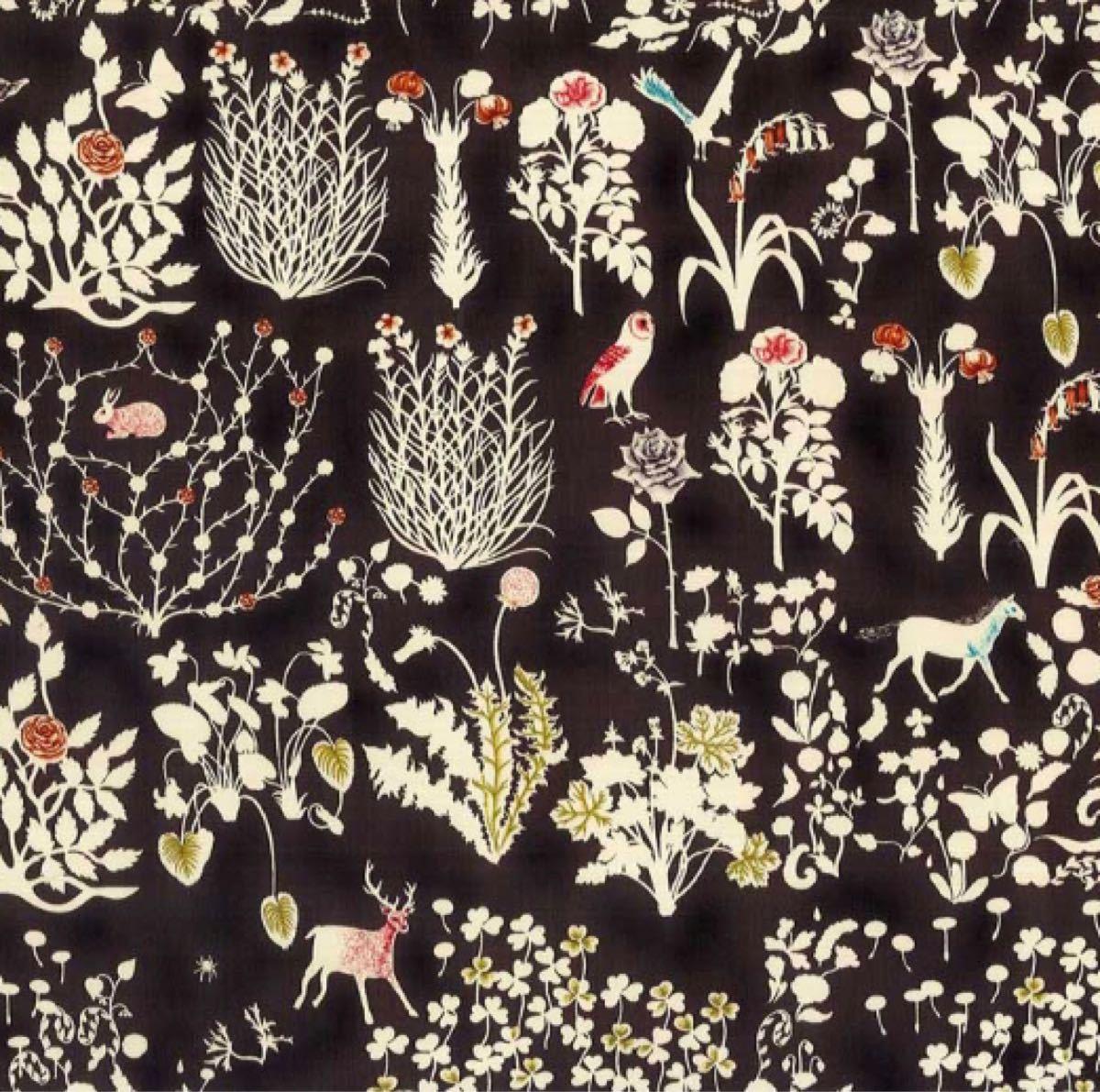リバティ ヨシエ 墨黒 生地幅×200cm 国産タナローン
