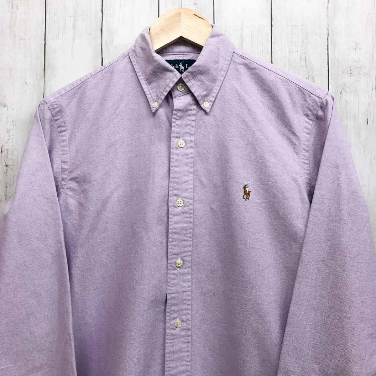 ラルフローレン POLO Ralph Lauren Polo 長袖シャツ メンズ ワンポイント Sサイズ 7-60_画像1