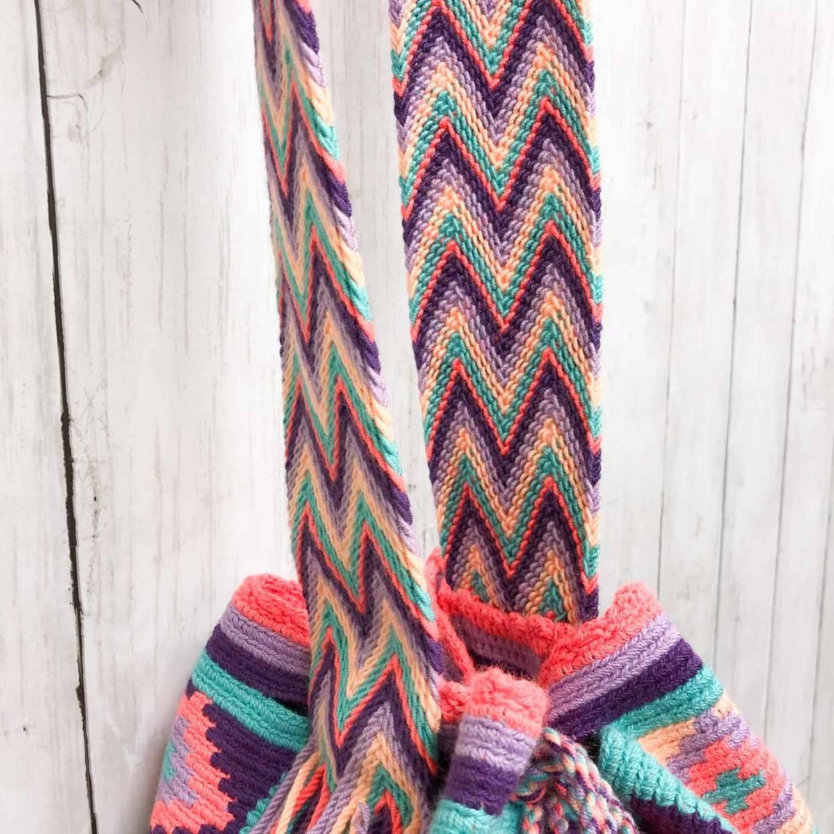 ワユーバッグ wayuu bag マザーズバッグ ショルダーバッグ レディース かごバッグ きれいめ ハンドメイド 手織り 南米 コロンビア 3_画像4