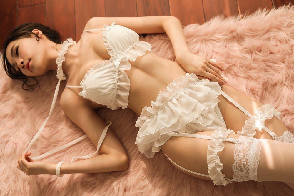 WJ174#白 セクシーランジェリーセット ベビードール コスプレ衣装 小悪魔 メイド服 ルームウェア レディース 下着 安い 勝負下着_画像5