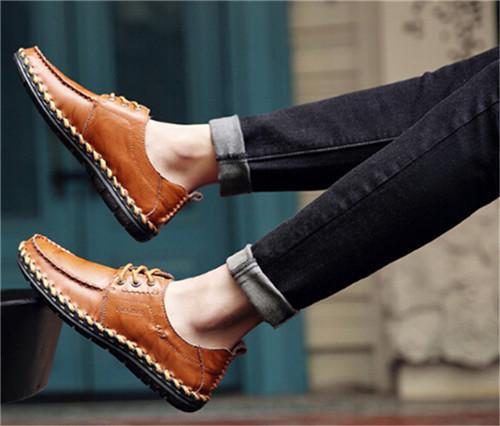 LDL022# 新品 メンズ ビジネスシューズ ローファー 紳士靴 通勤 ドライビングシューズ スリッポン 軽量 通気 カジュアル イエロー_画像4