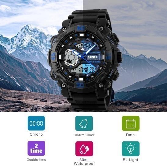 LDL128#メンズ スポーツウォッチ SKMEI ファッション アウトドア 電子 デジタル腕時計 50m 防水 レロジオ_画像6