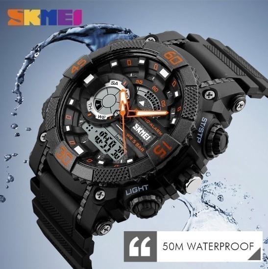 LDL128#メンズ スポーツウォッチ SKMEI ファッション アウトドア 電子 デジタル腕時計 50m 防水 レロジオ_画像3