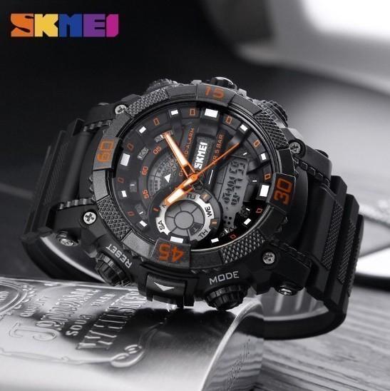 LDL128#メンズ スポーツウォッチ SKMEI ファッション アウトドア 電子 デジタル腕時計 50m 防水 レロジオ_画像2