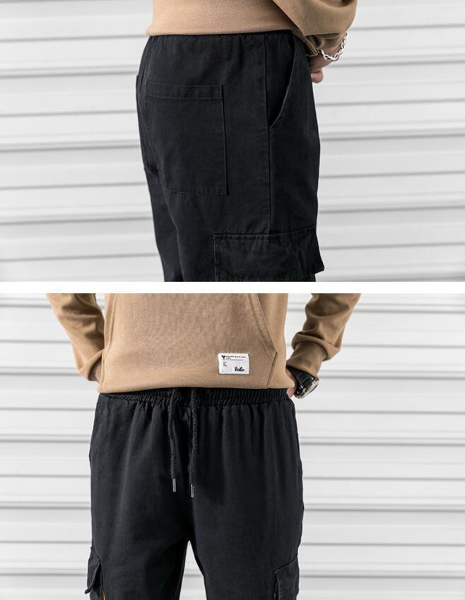 LDL046#メンズ ワークパンツ カーゴパンツ カジュアル ミリタリーパンツ 作業着 チノパン ウエスト紐 大きいサイズ ポケット 通気_画像6
